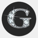 """Falso de """"pegatina Bling del diamante"""" de """"G"""""""