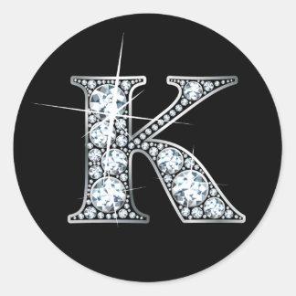 """Falso de """"pegatina Bling del diamante"""" de """"K"""""""