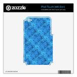 Falso descarado de la mariquita azul femenina metá iPod touch 4G skins