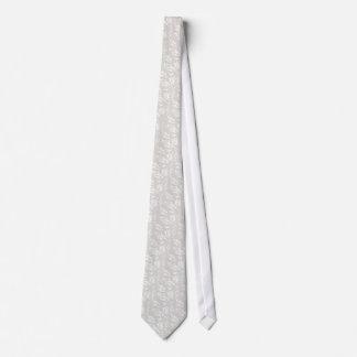 Falso diseño blanco del satén corbata personalizada