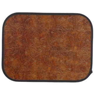 Falso diseño de cuero equipado envejecido del alfombrilla de auto