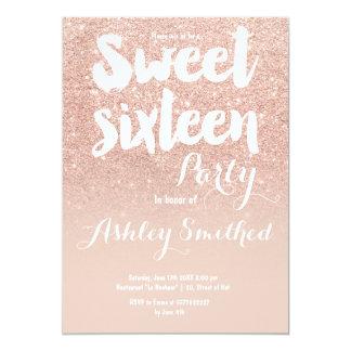 """Falso dulce color de rosa moderno 16 de la invitación 5"""" x 7"""""""