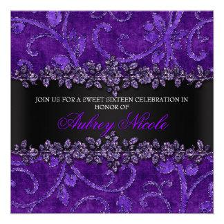 Falso dulce floral púrpura dieciséis del brillo y