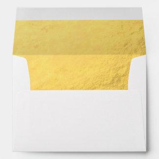 Falso efecto de la hoja de oro impreso sobres