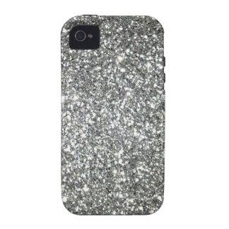 Falso encanto de plata impreso del estilo del bril iPhone 4 fundas