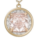 Falso encanto rosado del collar de la bisutería de