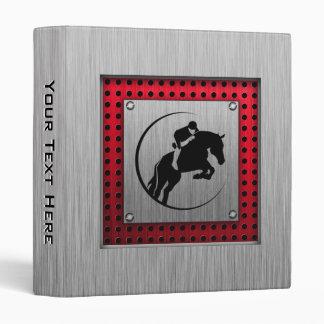 Falso Equestrian. de aluminio cepillado