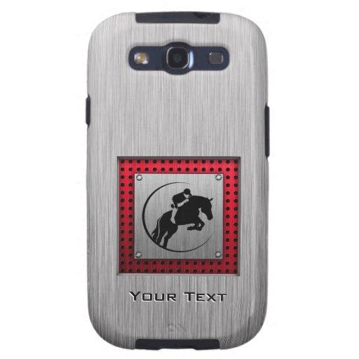 Falso Equestrian. de aluminio cepillado Galaxy S3 Protectores