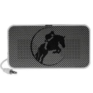Falso Equestrian de la fibra de carbono iPod Altavoz