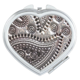 Falso espejo compacto metálico de Paisley