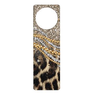 Falso estampado de animales del leopardo de moda h colgantes para puertas