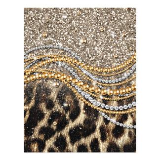 Falso estampado de animales del leopardo de moda h tarjeta publicitaria