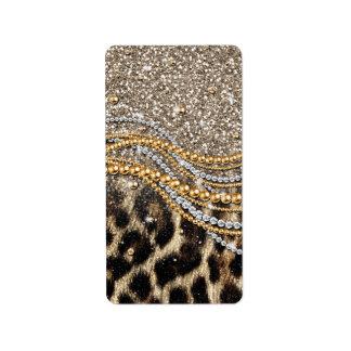 Falso estampado de animales del leopardo de moda h