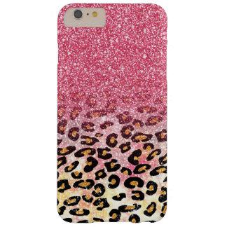 Falso estampado de animales rosado lindo del funda barely there iPhone 6 plus