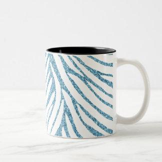 Falso estampado de zebra del brillo de la taza de dos tonos