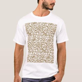 Falso estampado leopardo de moda bonito del brillo playera