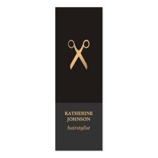 Falso estilista oscuro elegante elegante simple tarjetas de visita mini