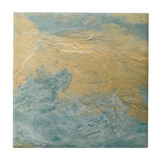 Falso final de la turquesa de cobre azulejo cuadrado pequeño