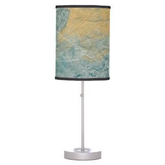 Falso final de la turquesa de cobre lámpara de mesilla de noche