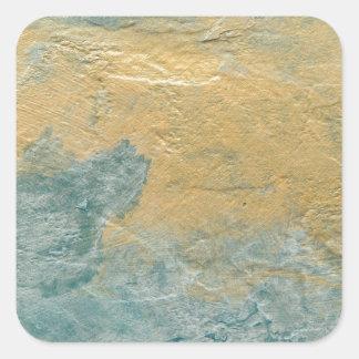 Falso final de la turquesa de cobre pegatina cuadrada