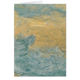 Falso final de la turquesa de cobre tarjeta de felicitación