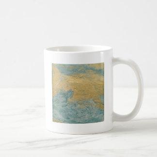 Falso final de la turquesa de cobre taza de café