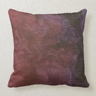 Falso final púrpura cepillado cojín