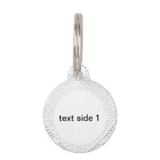 Falso fondo blanco de la tela del cordón placas para mascotas