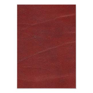 "Falso fondo de cuero rojo oscuro invitación 3.5"" x 5"""