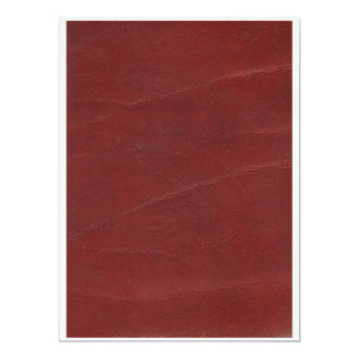 "Falso fondo de cuero rojo oscuro invitación 6.5"" x 8.75"""
