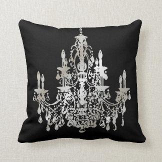 Falso fondo de la plata/chandeliers/DIY de Cojín Decorativo