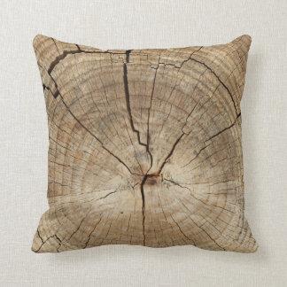 Falso fondo de los anillos de árbol almohadas