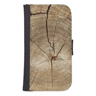 Falso fondo de los anillos de árbol fundas billetera para teléfono