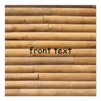 """Falso fondo del apartadero de la cabaña de madera invitación 5.25"""" x 5.25"""""""