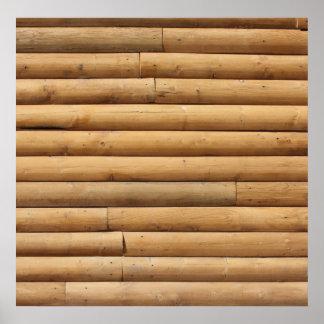 Falso fondo del apartadero de la cabaña de madera poster