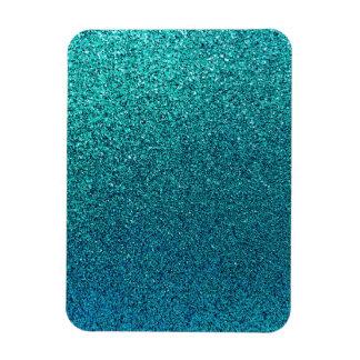 Falso fondo del brillo de las azules turquesas del iman flexible