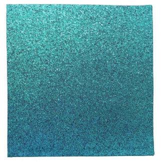 Falso fondo del brillo de las azules turquesas del servilleta