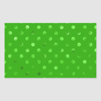 Falso fondo metálico verde del lunar de la hoja pegatina rectangular