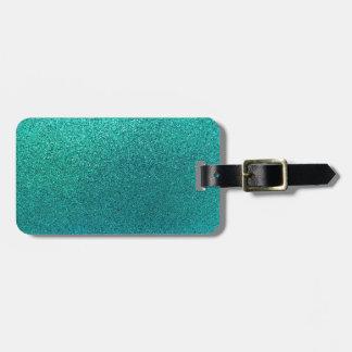 Falso fondo S del brillo de las azules turquesas Etiquetas Maleta