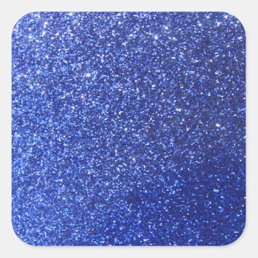 Falso gráfico azul marino del brillo colcomanias cuadradass