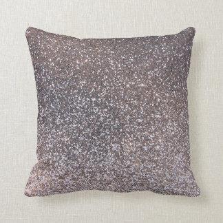Falso gráfico de plata del brillo cojin
