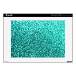 Falso gráfico del brillo de la turquesa portátil calcomanías