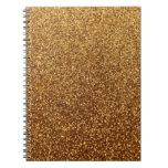 Falso gráfico del brillo del oro cuadernos