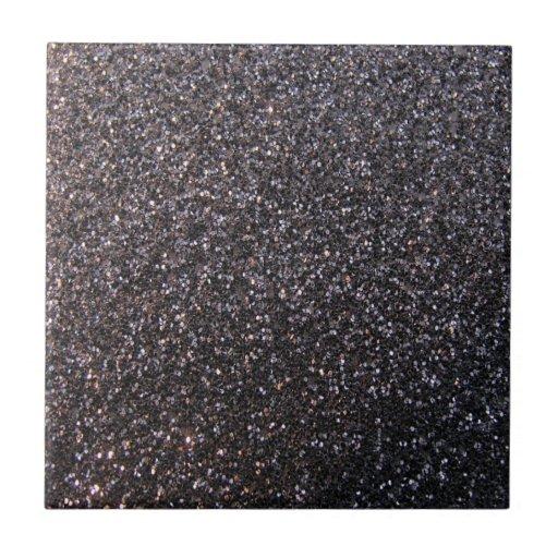 Falso gráfico negro del brillo azulejo cerámica