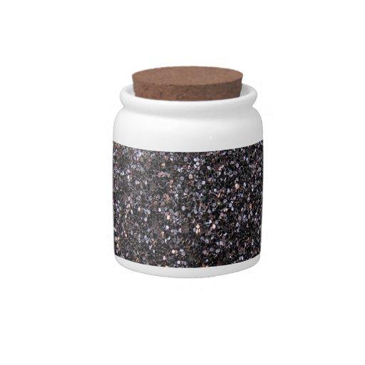 Falso gráfico negro del brillo jarras para caramelos