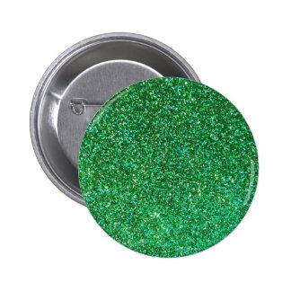 Falso gráfico verde del brillo pin redondo de 2 pulgadas