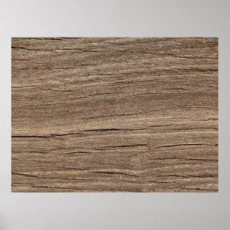 Falso grano de madera posters