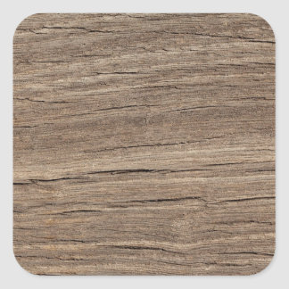Falso grano de madera pegatina cuadrada