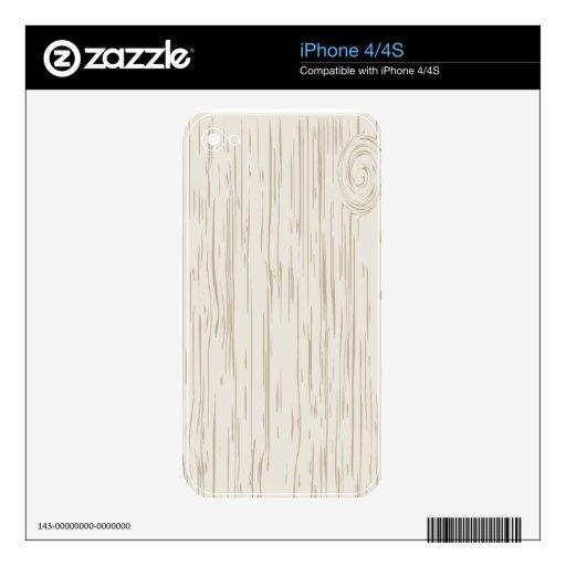 Falso grano de madera skin para el iPhone 4S
