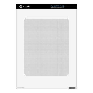 Falso gris de plata de lino clásico iPad calcomanía